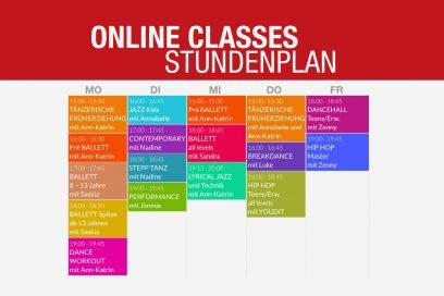 ONLINE CLASSES Stundenplan
